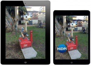 iPad2 versus retina display