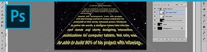 Photoshop video tutorial: create Star Wars intro using Smart Objects